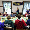 Kayla Rice/Reformer<br /> Jennifer Kramer's sixth grade class from Guilford elementary school eats lunch at Broad Brook Grange in Guilford on Wednesday afternoon.