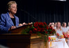 Sister Kathleen Keenan speaks for the Gwynedd Mercy Academy High School Commencement Excercises on Saturday May 31,2014. Photo by Mark C Psoras/The Reporter