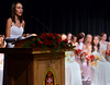 Class of 2014 member Kylie Marie Hartz gives the salutatory Adress during the Gwynedd Mercy Academy High School Commencement Excercises on Saturday May 31,2014. Photo by Mark C Psoras/The Reporter