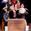 "Don Knight | The Herald Bulletin<br /> Rose (Natalie Pridemore) drives her daughters and their vaudeville act to their next performance in Anderson University's production of ""Gypsy."""