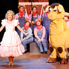 "Don Knight | The Herald Bulletin<br /> June (Julianne Boyd) performs with her Farmboys in Anderson University's production of ""Gypsy."""