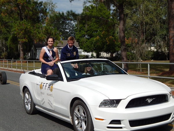 FFA Prince and Princess Austin Graham and Caitlyn Johnson.