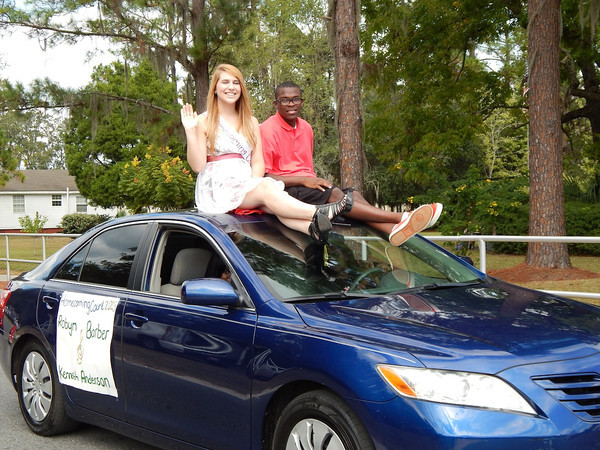 Part of Homecoming Court Robyn Barber and Kenneth Anderson