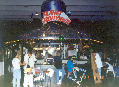A Planet Hollywood was the central theme, a shack shop built to purpose for the occasion