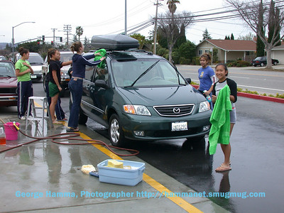 (3/2003) Meanwhile, the aquatics athletes continued their fund raising by car wash, tournament, and Christmas boutique.  Needed were lane dividers, water polo goals, a timing and scoring system, and lights for night time use.