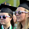 Dental Hygiene graguates Heidi Beth Pikcilingus of Schenectady and Beth Roberts of Albany at Hudson Valley Community College commencement at the Joseph L. Bruno baseball field in Troy, Saturday  May 17,  2014 (Mike McMahon - The Record)