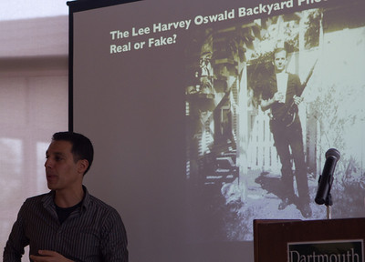 Dartmouth Professor Hany Farid discussing the controversial photograph of Lee Harvey Oswald.