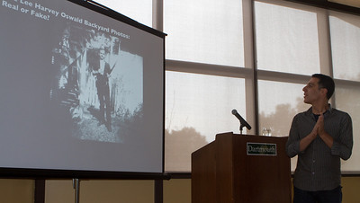Professor Hany Farid discussing the controversial photograph of Lee Harvey Oswald.