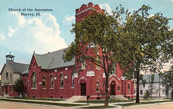 ASCENSION CHURCH - HARVEY, IL <br /> Before school was built
