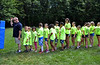 Youngsters line up behind officer Scott Woodford during the Hatfield Township Junior Police Academy held in School Road Park. Thursday, June 26, 2014.   Photo by Geoff Patton