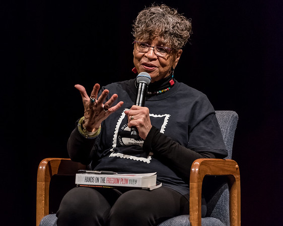 After her presentation, Peggy Trotter Dammon Preacely answers students' questions about her time as a Freedom Rider and civil rights activist during the 60s, and encouraged them to get involved in doing good in their own community. Fran Ruchalski | Pharos-Tribune