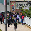 Students enter Logansport High School for the first day of the 2021-22 school year on Wednesday, Aug. 11, 2021.