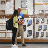 Principal Jeff Brooke helps a student find their class during the first day of the 2021-22 school year at Pioneer Junior/Senior High School in Royal Center on Wednesday, Aug. 11, 2021.