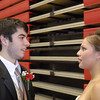 Queen Julie Plunkett and king Hunter Howe discuss the details of their coronation Friday at Hilldale High School.