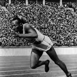 Jesse Owens competing in the famous or infamous Eleventh Olympiad in Berlin in 1936. Owens smashed the notion of white supremacy with four gold medals.