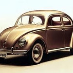 First and most popular foreign car with mass sales in the US. Here der Kaefig (the Beetle) from the firm Volkswagen.