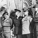 Commanders of the victorious Allies in WWII-Montgomery, Eisenhower, Ushakov, and DeGaulle.