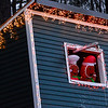 KRISTOPHER RADDER — BRATTLEBORO REFORMER<br /> Gingerbread people hang out in a fort that is brightly lit for the holiday season.
