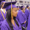 Illen Abraha watches fellow seniors enter the gymnasium during Wednesday's Holy Family High School graduation ceremony.<br /> May 18, 2011<br /> staff photo/David R. Jennings