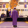 A senior waits to be called to accept his diploma during Wednesday's Holy Family High School graduation ceremony.<br /> May 18, 2011<br /> staff photo/David R. Jennings