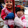 """Emerson Youngren, left, and Stella Delaney, both 3, play outside the Homestar Child Development Preschool in Boulder. For more photos of the kids, go to  <a href=""""http://www.dailycamera.com"""">http://www.dailycamera.com</a><br /> Cliff Grassmick / January 14, 2010"""