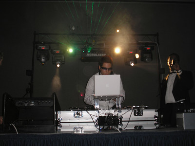 DJ DCX on the 1200's and EMCEE Christavous Rockin' the Mic