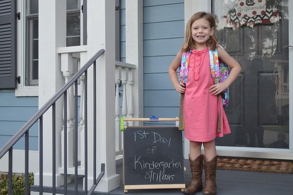 Hylton's First Day of Kindergarten
