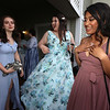 Innovation Academy Charter School prom, at Westford Regency. From left, Sarah Miller of Chelmsford, Jenna Green of Billerica, and Evelyn Sourn of Tyngsboro. (SUN/Julia Malakie)