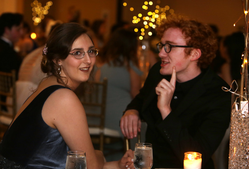 Innovation Academy Charter School prom, at Westford Regency. Alexya Lee of Chelmsford and Jacob Babcock of Dracut. (SUN/Julia Malakie)