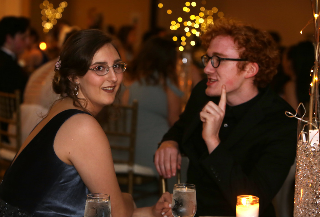 . Innovation Academy Charter School prom, at Westford Regency. Alexya Lee of Chelmsford and Jacob Babcock of Dracut. (SUN/Julia Malakie)