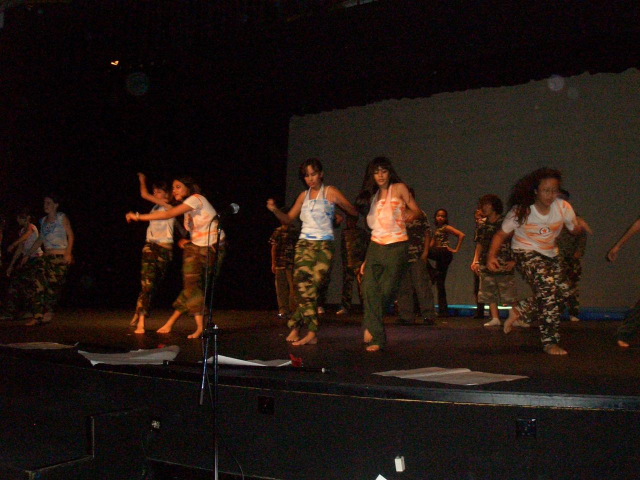 Naomi dancing on stage at the International School Kuala Lumpur(ISKL) Showcase Night