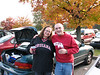 Shawn & Sheri tailgating before the game; just before Shawn ditched us to go tailgate with his friends.