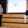 "Executive Producer Jim Wahlberg, Executive Director of the Mark Wahlberg Youth Foundation, listens as Kathleen Errico speaks about losing her daughter Kelsey Endicott to an overdose during a showing of the short film ""If Only"" at North Middlesex Regional High School on Tuesday evening. ""If Only"" is a short film intended for teens, parents and adults to raise awareness about the dangers of prescription drug misuse and abuse and to start a conversation that encourages the safe use, storage and disposal of prescription drugs to keep them out of the hands of kids. SENTINEL & ENTERPRISE / Ashley Green"