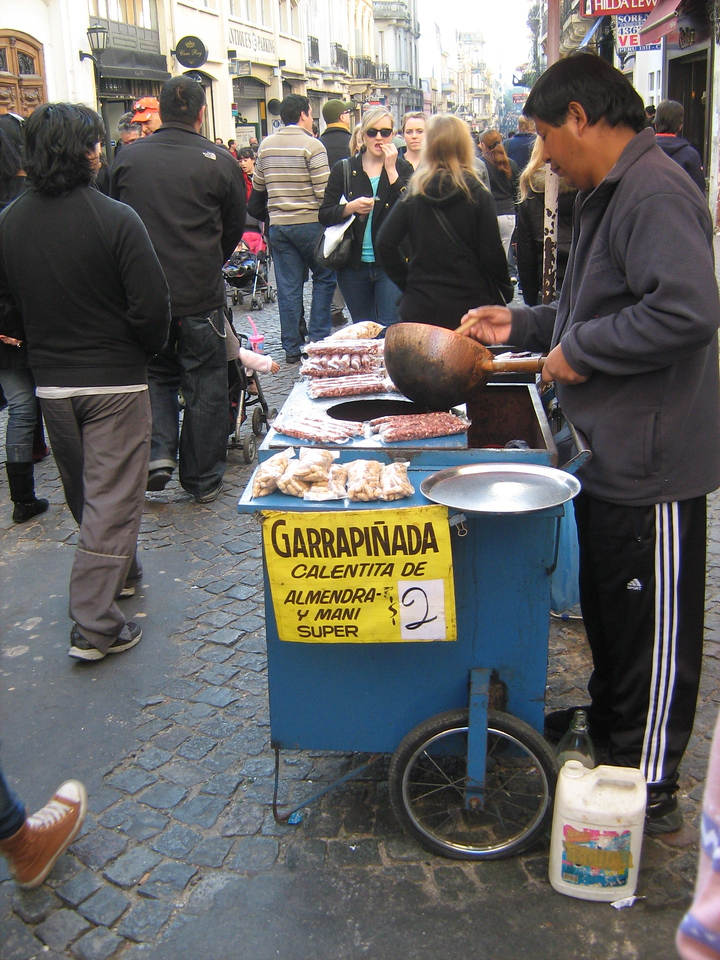 Roasted or fried nuts were for sale at San Telmo fair.