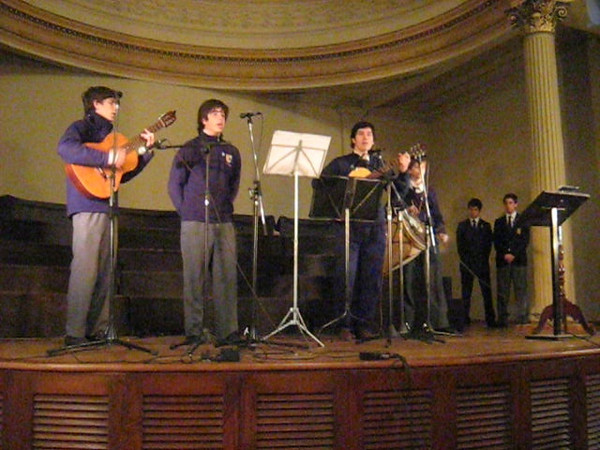 Celebration in song of Argentine Independence Day at Colegio del Salvador on Friday, July 8, 2011.