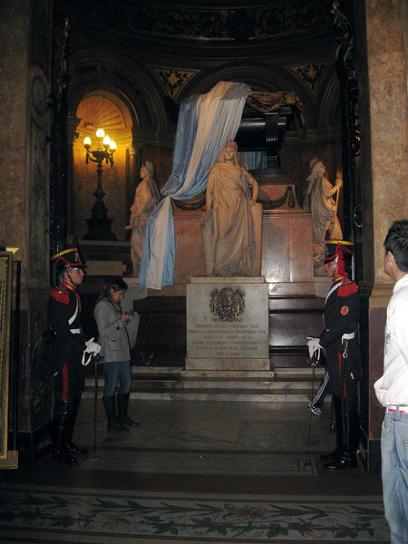 General San Martin's tomb in Cathedral.
