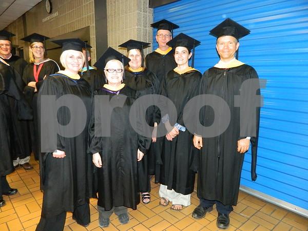 Left to right: Jenny Gernhart, Shuryl Grifitt, Julie Ernsmann, Beth Collins, Bryson Bergerud, and Carl Gross