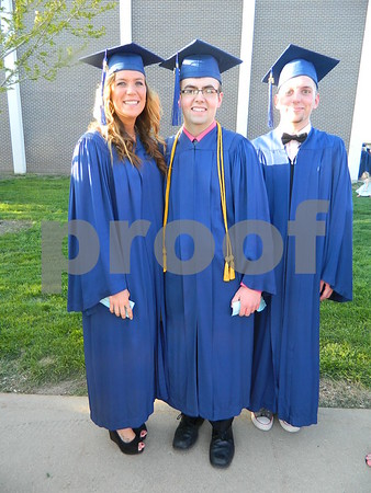 Left to right: Jessica Fooken, Dylan Hagen, and Alex Davis