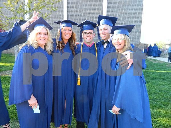 Left to right: Sherri Hall, Jessica Fooken, Dylan Hagen, Alex Davis, and Carolyn Ferry