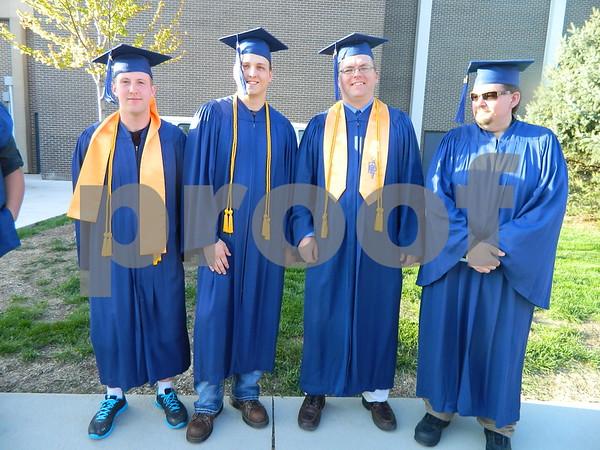 Left to right: Garrett Rodinael, Scott Thompson, Greg Kirby and Sean Buck