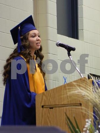 Terra Jackson giving her speech