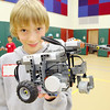 John R. Briggs Elementary School held a Mars rover derby, where technology students built rovers and local judges picked a winning rover on Friday morning at the school. Fifth grader Marty Steucek, 111, shows off his teams rover. SENTINEL & ENTERPRISE/JOHN LOVE