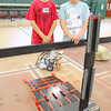 John R. Briggs Elementary School held a Mars rover derby, where technology students built rovers and local judges picked a winning rover on Friday morning at the school. Watching their Rover is fifth graders Tim Ovaska, 11, and Jared Podrazik, 111. SENTINEL & ENTERPRISE/JOHN LOVE