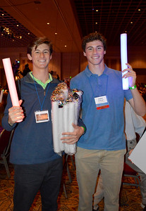 Joe McGonnigal and Justas Schillinger selling rave sticks for the evening shows