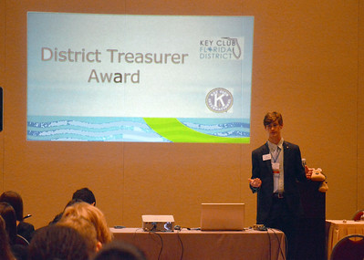Joe McGonnigal presenting the District Treasurer Workshop