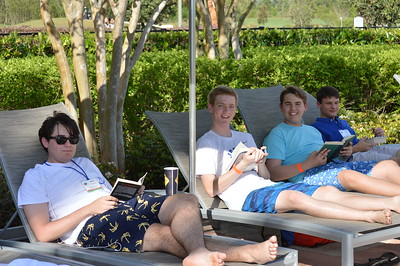 Found the shade, perfect place to read - L - Brice Sewell, Gabriel Brown, Nicholas Haskell, and Trace Nuss R