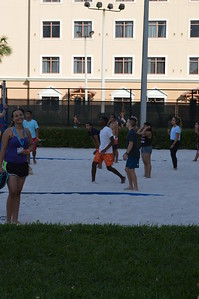 Kevin Mendez with Key Clubbers from around the state play volleyball on our down time
