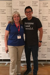 "Ms. Martin with the Keynote Speaker Alex Sheen Founder of ""Because I said I Would..."" empowering all of us with the power of a promise and the importance of keeping them."