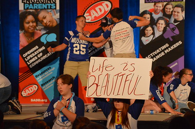 Ohio's Allen East High School shows off a powerful skit about challenges teens face - only a few months after losing one of their students