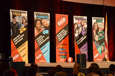 Four main Power Words for this year's National SADD Conference - Empowering Teens, Engaging Parents, Mobilizing Communities, and Changing Lives
